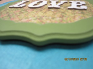 5 Chipboard letters
