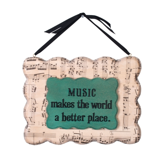 Modern Plaque Music Sign