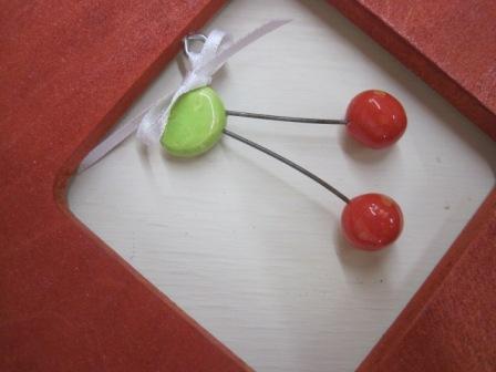 cherries and ribbon