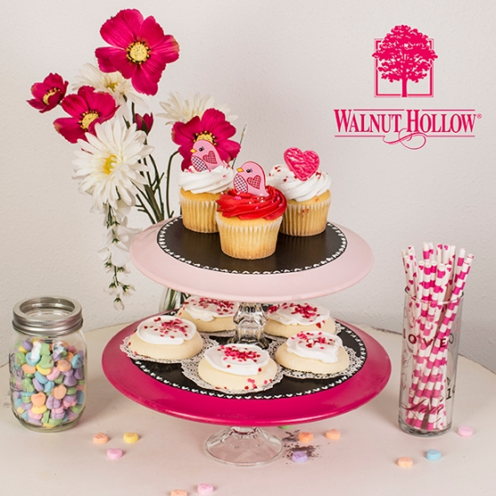 Walnut Hollow DIY Plate Cake Stand