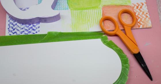 5 Tape off edge of Plaque