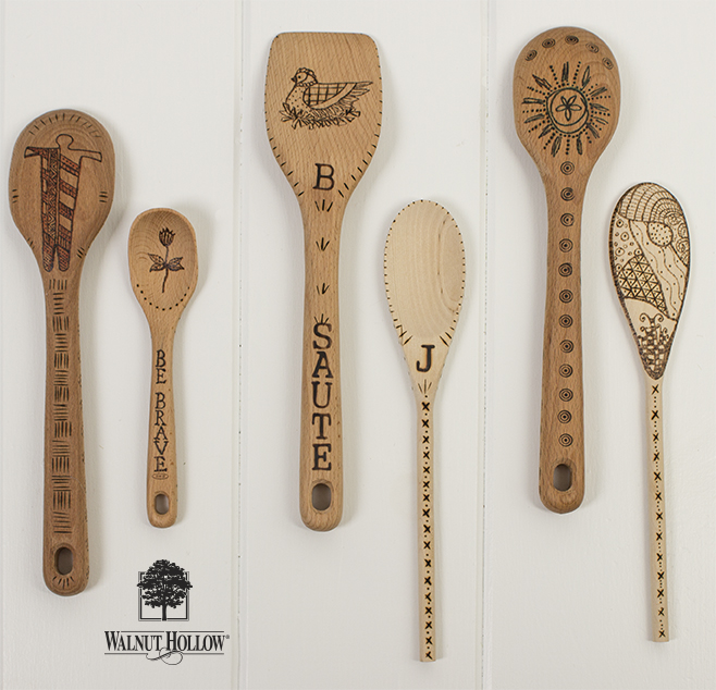 Wood Burning on Spoons
