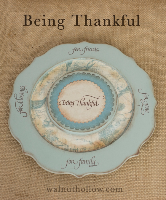 Walnut Hollow Crafts | Being Thankful