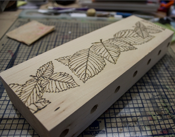 Walnut Hollow Crafts | Wood Burned Leaves