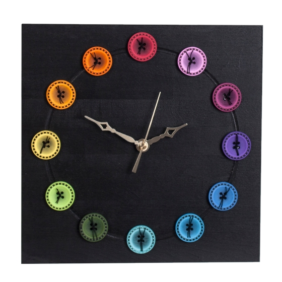 Square Modern Clock With Buttons