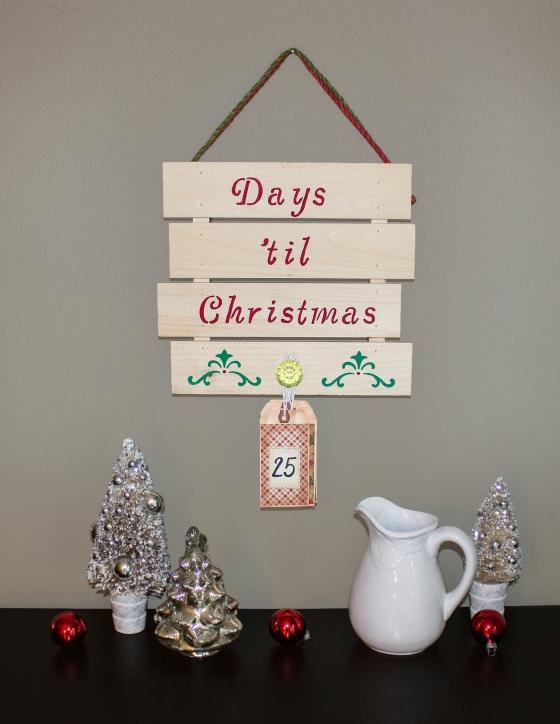 Days Til Christmas Pallet