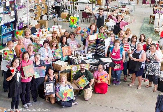 1- Paint-A-Palooza at Charity Wings - WalnutHollow JPriest - Group Photo