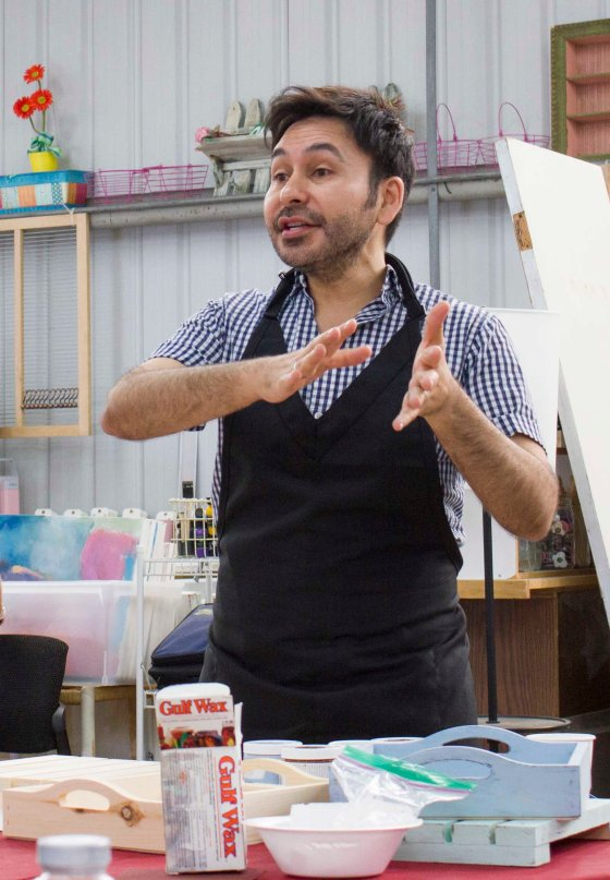 Paint-A-Palooza at Charity Wings - WalnutHollow JPriest - Mark Montano Explains Chalky Finish