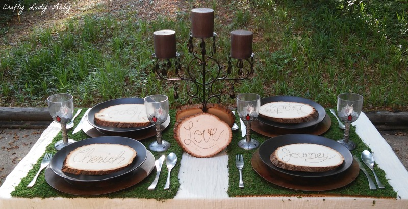 ENCHANTED WEDDING TABLESCAPE full table