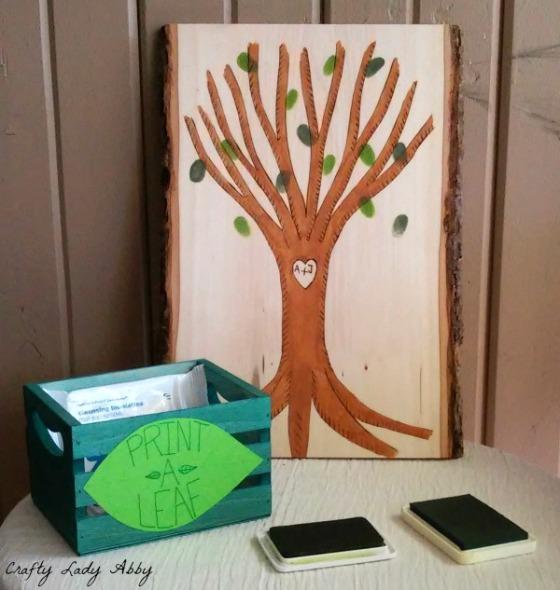 WALNUT HOLLOW Woodburned Wedding Tree Activity 1