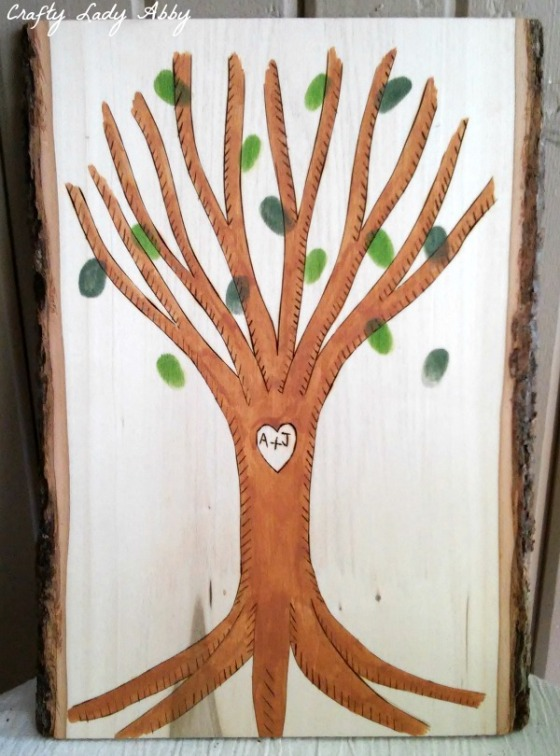 WALNUT HOLLOW Woodburned Wedding Tree Activity 2