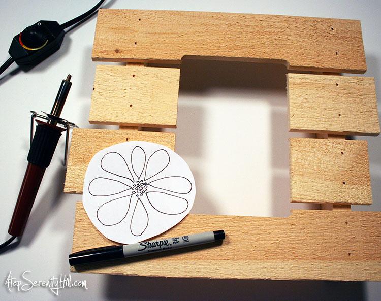 Wood Burned Table Number Pallet Sign Rustic Wedding Decor