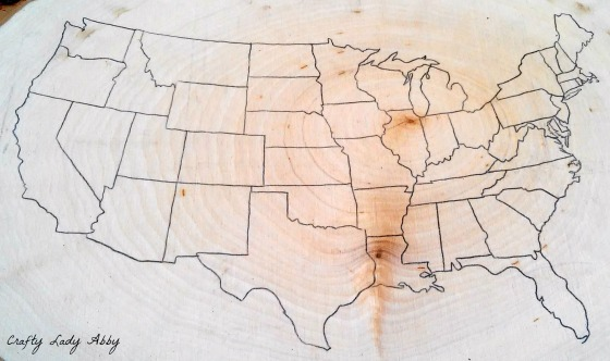 06-08-2015 FATHERS DAY WOOD BURNED USA ROAD TRIP MAP 1