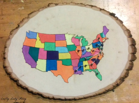 06-08-2015 FATHERS DAY WOOD BURNED USA ROAD TRIP MAP 8