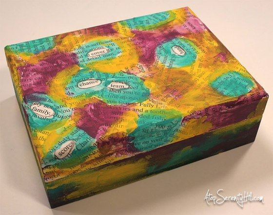 Mixed Media Card  Box from Walnut Hollow • AtopSerenityHill.com #mixedmedia #playingcards #games