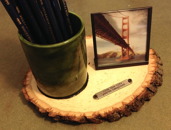 pencil cup and frame lisa fulmer
