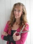 Stefanie Girard with scissors