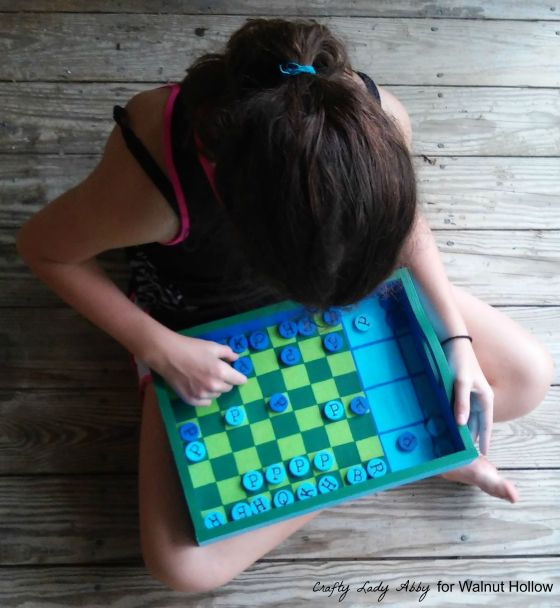 Chalkboard Checkerboard Game Tray and Pieces 6