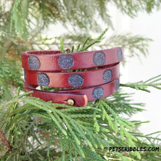 how to leather burn a cuff bracelet