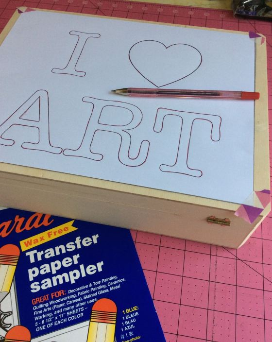 I Love Art logo transfer box