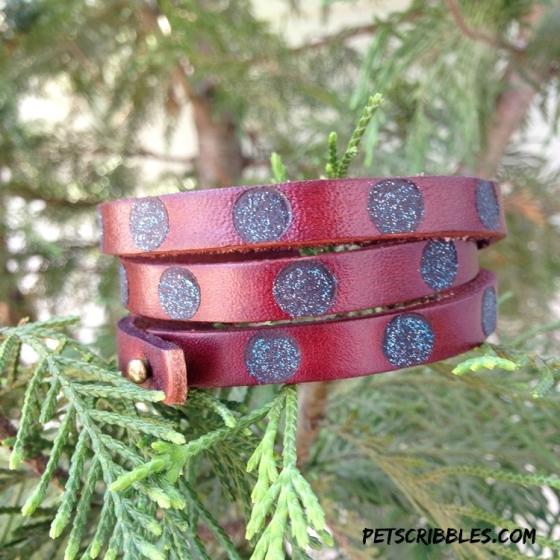 leather burned bracelet cuff