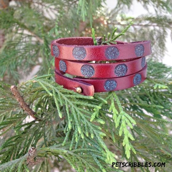 leather burned cuff bracelet