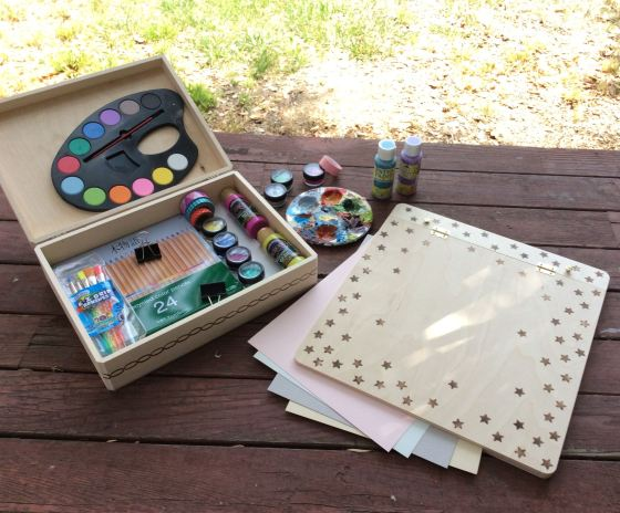 Walnut Hollow art box and easel stefanie girard