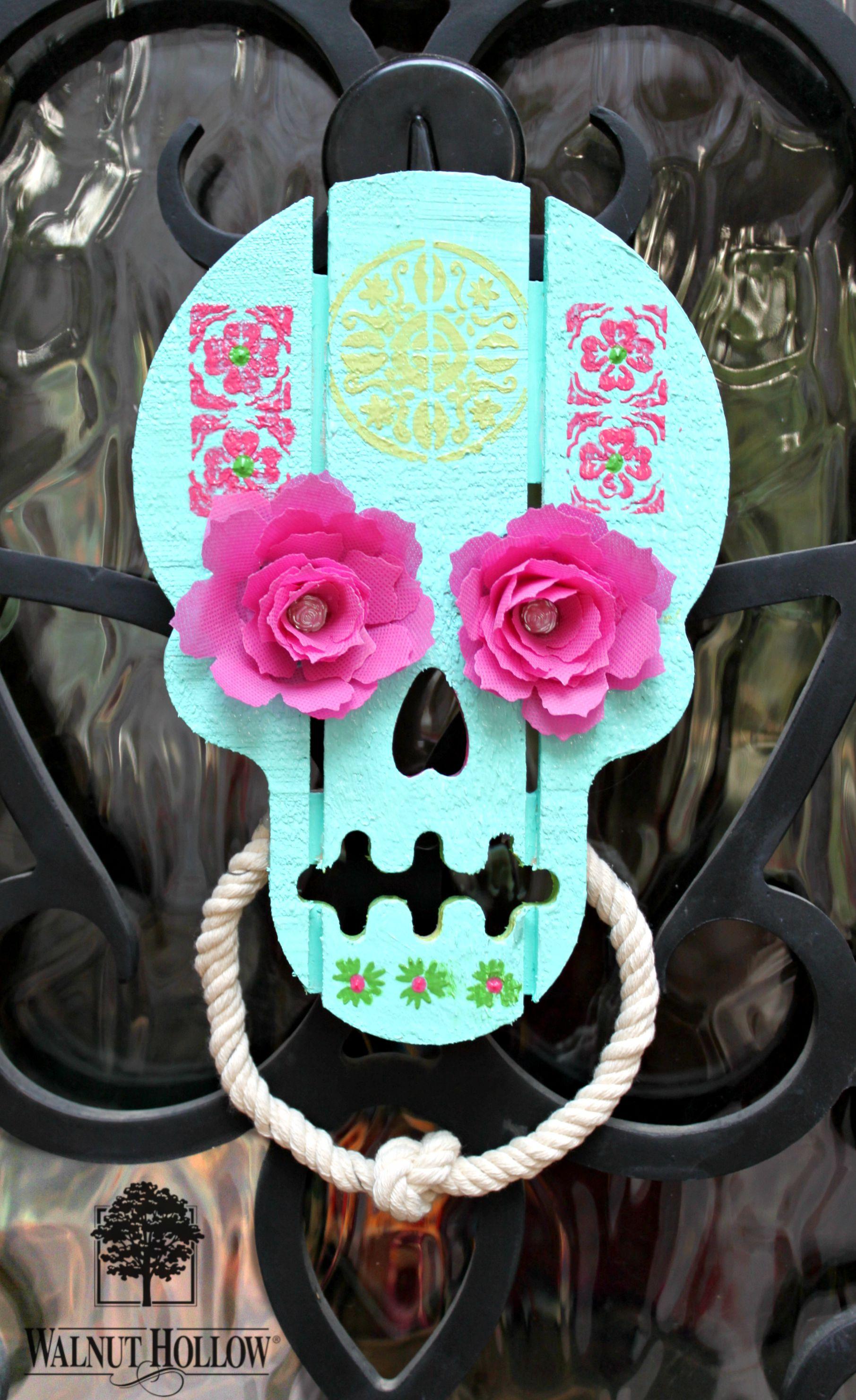 Brand new Make a Sugar Skull (Calavera) Door Knocker | walnuthollowcrafts FT34