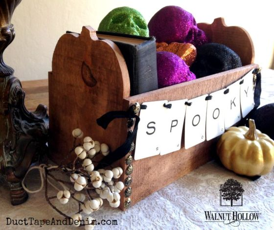 Walnut Hollow spooky pumpkin box