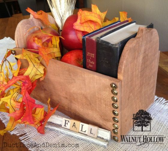 Walnut Hollow fall pumpkin box centerpiece