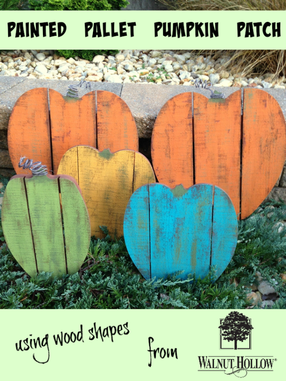 Painted Pallet Wood Pumpkin Patch