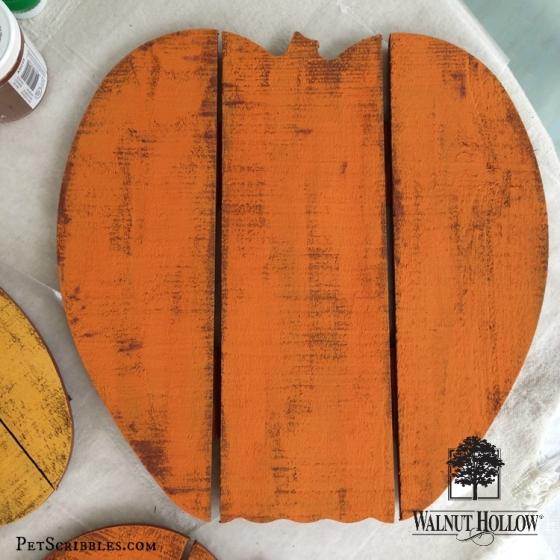 painted wood pumpkin
