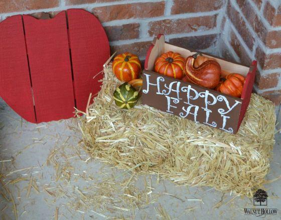 fall apple porch display