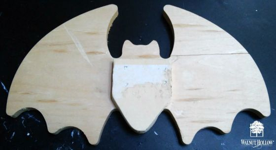 Woodburned Vampire Bat Box 1