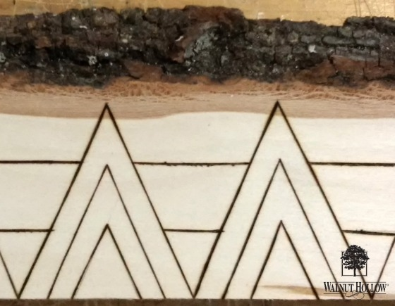 Rustic Wood Burned Planter Tablescape 3