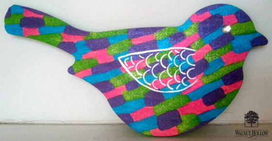 Tween Patchwork Wood Bird Wall Art HEADER
