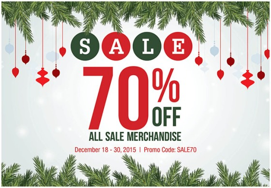 Sale 70% Off All Sale Merchandise