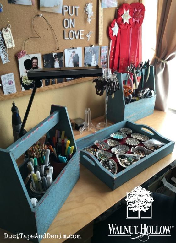 07 - Desk organization with Walnut Hollow