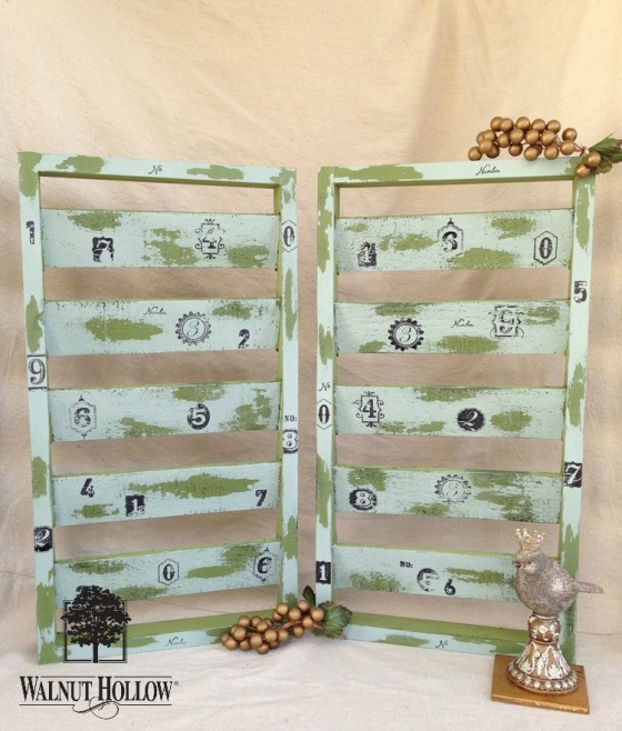 Make your own set of painted shutters