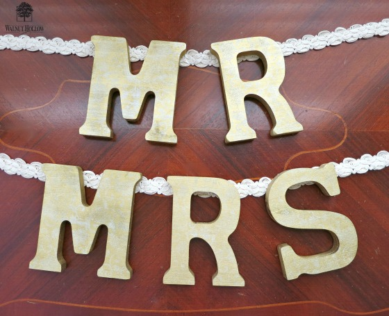 walnut hollow wedding sign