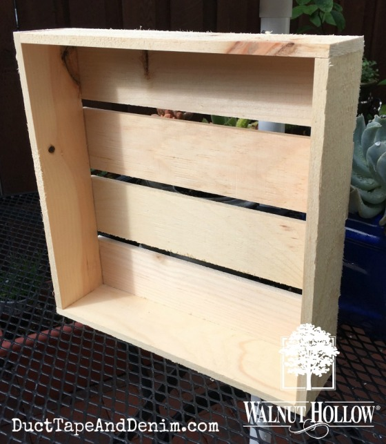 Walnut Hollow rustic pallet crate BEFORE painting copy