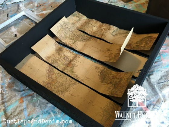 Glueing map into shadow box