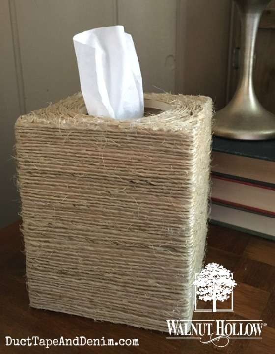 Finished sisal tissue box copy