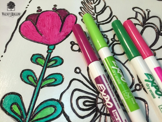 color in design with dry erase markers