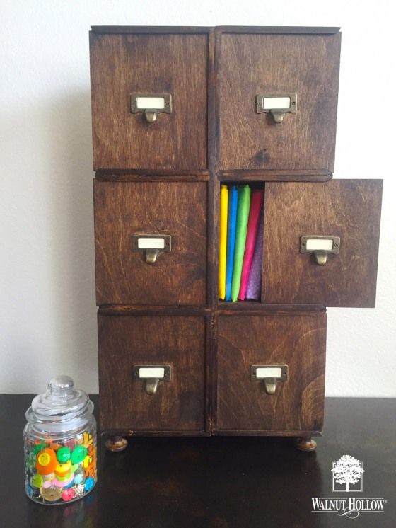 Craft storage Faux Apothecary Cabinet