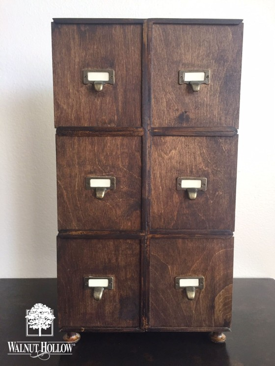 Faux Apothecary Cabinet made from WH Card Keeper Boxes