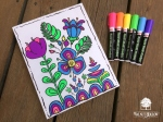 finished diy dry erase coloring page