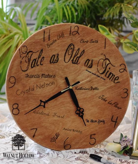 Wedding Clock Guest Book a Tale as Old as Time