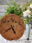 "Simple ""Tale as Old as Time"" Wedding Clock Guest Book"