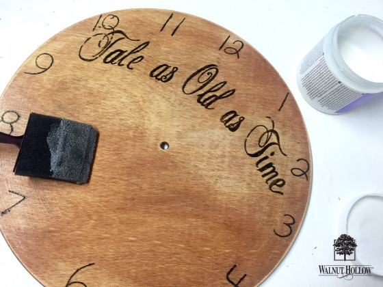 Use a satin finish sealant to give your wedding clock durability